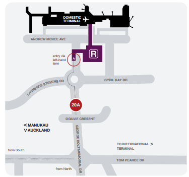 Valet Parking - Domestic Terminal map